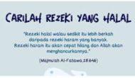 Permalink to Carilah Rezeki Kalian dengan Cara Yang Halal dan Baik